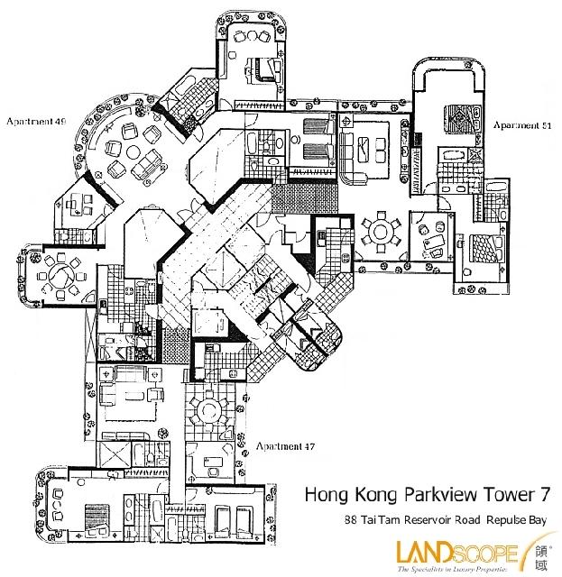 floor plan of parkview hong kong parkview